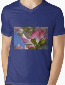 blooming magnolia flowers in spring Mens V-Neck T-Shirt