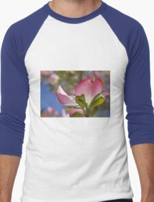 blooming magnolia flowers in spring Men's Baseball ¾ T-Shirt