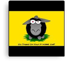 Black Sheep Gadsden Flag Canvas Print
