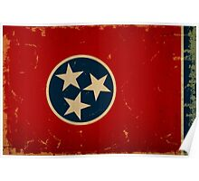 Tennessee State Flag VINTAGE Poster
