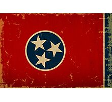 Tennessee State Flag VINTAGE Photographic Print