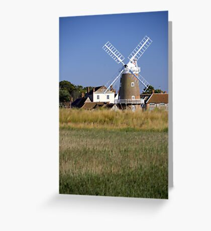 Stunning Panorama of Cley Windmill Greeting Card