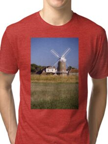 Stunning Panorama of Cley Windmill Tri-blend T-Shirt