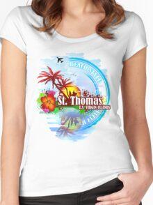 St Thomas USVI Women's Fitted Scoop T-Shirt