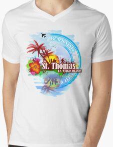 St Thomas USVI Mens V-Neck T-Shirt