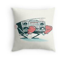 music fight fight fight Throw Pillow