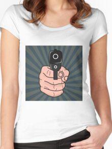 pop art  Women's Fitted Scoop T-Shirt