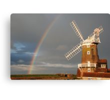Cley Windmill and Rainbow 2010 Canvas Print