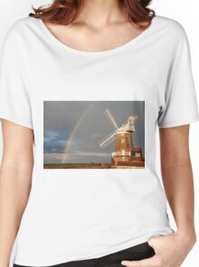 Cley Windmill and Rainbow 2010 Women's Relaxed Fit T-Shirt
