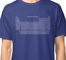 White and Transparent Periodic Table Classic T-Shirt