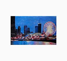 Chicago Skyline With Ferris Wheel Unisex T-Shirt