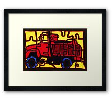 Dump truck (pieces of the puzzle 1) Framed Print