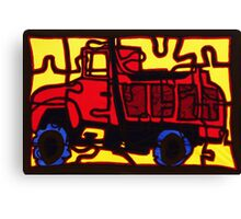 Dump truck (pieces of the puzzle 1) Canvas Print