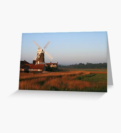 Cley Windmill at Dawn Greeting Card