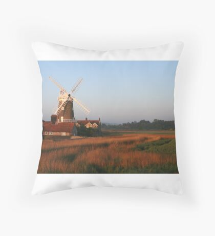 Cley Windmill at Dawn Throw Pillow