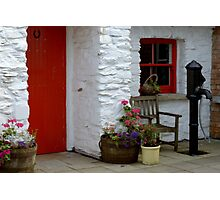 At the cottage door Photographic Print