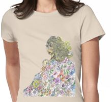 Mother And Child Spring Garden Floral Womens Fitted T-Shirt