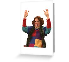 Kristen Wiig: freakin excited  Greeting Card