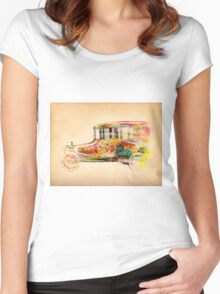 old car  Women's Fitted Scoop T-Shirt