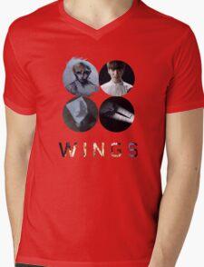 BTS-WINGS-BEGIN [WHITE] Mens V-Neck T-Shirt