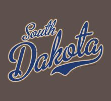 South Dakota Script VINTAGE Blue by USAswagg2
