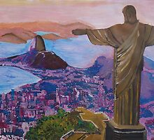 Rio De Janeiro With Christ The Redeemer by artshop77