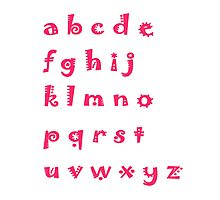 Alphabet red letters Photographic Print