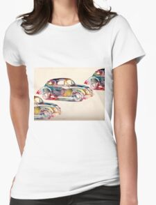 old cars Womens Fitted T-Shirt