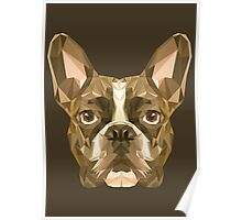 French bulldog low poly Poster