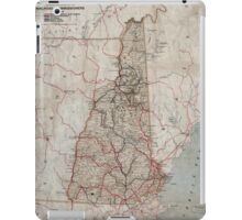 0143 Railroad Maps Railroad map of New Hampshire accompanying report of the railroad commissioners iPad Case/Skin