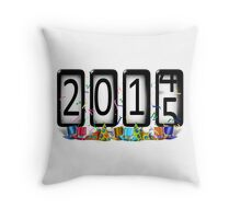 NEW YEAR 2015 Odometer Throw Pillow