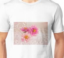 Three Pink Dahlias Unisex T-Shirt