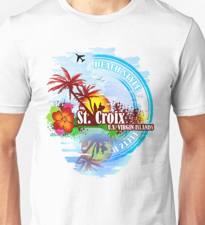 St. Croix Beach Style Party  Unisex T-Shirt