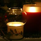 Holly Leaves and Candles All Aglow by SummerJade