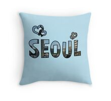 Love Seoul Throw Pillow