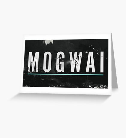 mogwai band poster Greeting Card