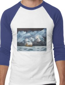 Snowy Mountains Men's Baseball ¾ T-Shirt