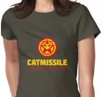 CATMISSILE. Standby for launch. Womens Fitted T-Shirt
