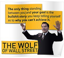 Di Caprio - Wolf of Wallstreet Poster