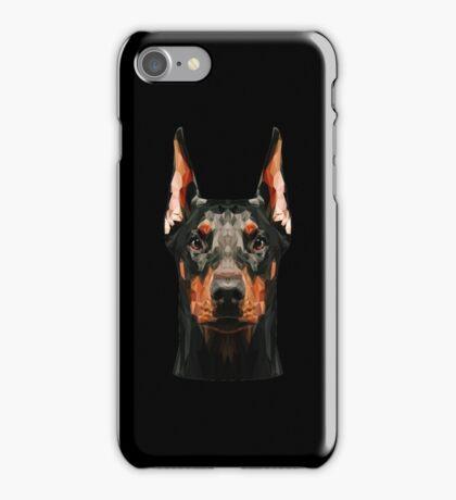 Doberman low poly iPhone Case/Skin