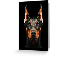 Doberman low poly Greeting Card
