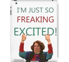 Kristen Wiig: I'm just so freaking excited!  iPad Case/Skin