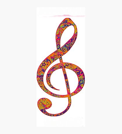 Psychedelic Music Symbol Photographic Print