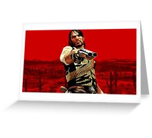 red dead redemption poster Greeting Card