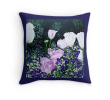Tulips. Throw Pillow
