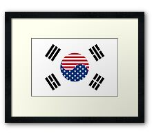 Korean American Flag Framed Print
