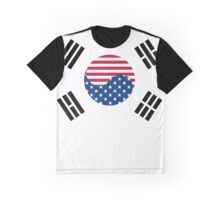 Korean American Flag Graphic T-Shirt