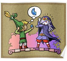 Legend of Zelda Vaati and Link T-Shirt Poster