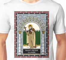 ST PETER CLAVER under STAINED GLASS Unisex T-Shirt