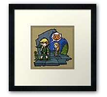 Legend of Zelda Wind Waker Meow T-Shirt Framed Print